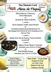 Repas Dimanche de Pâques